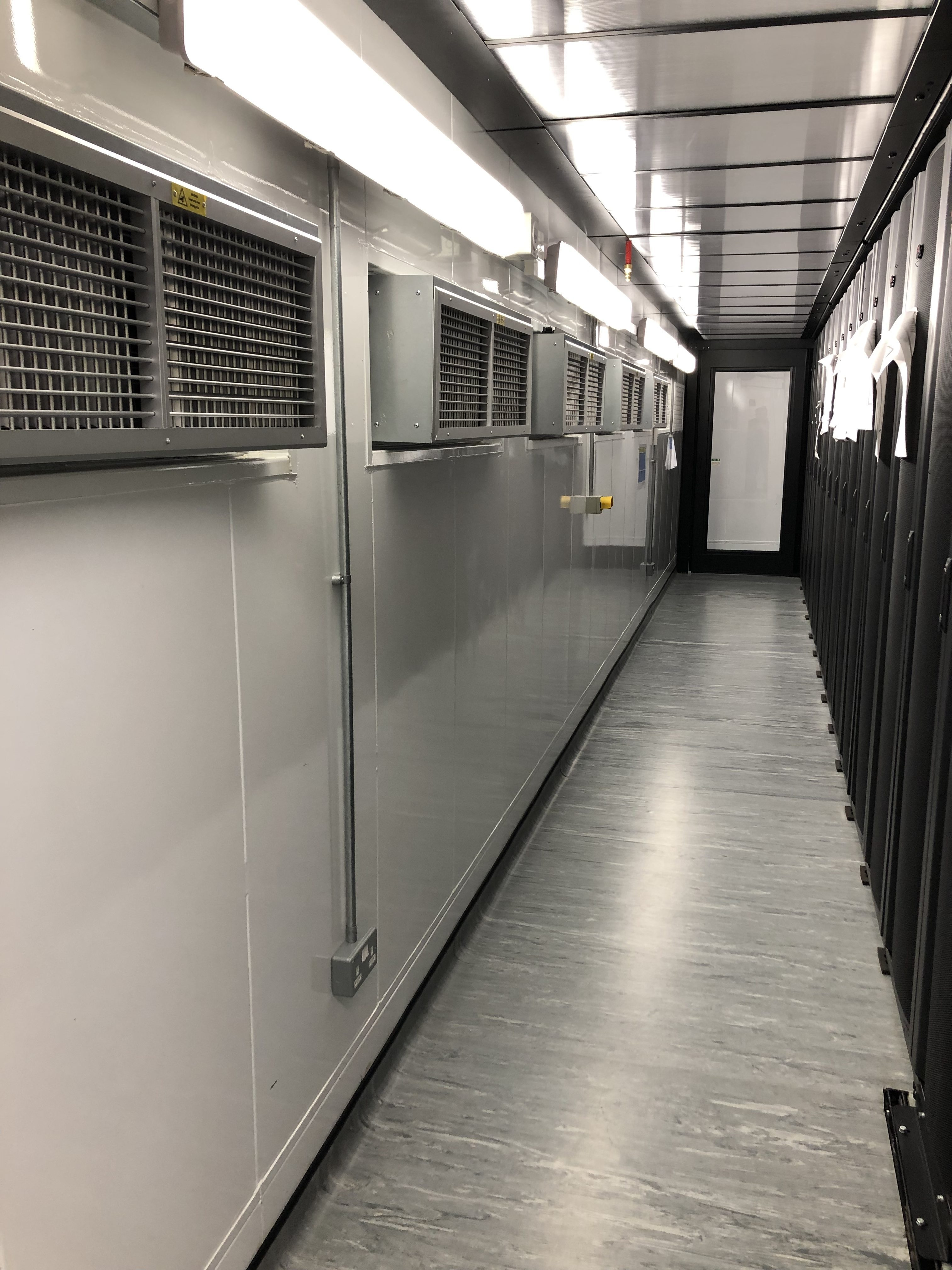 Cool Aisle In the Prefab Edge Data Centre